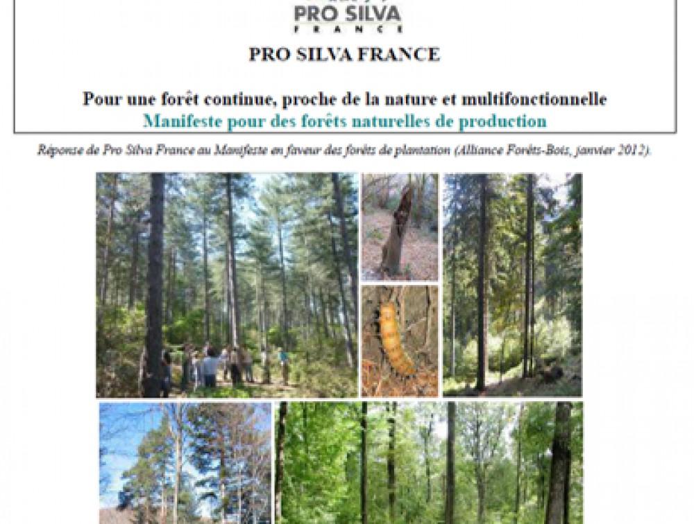 Manifeste pour des forêts naturelles de production (Pro Silva France, mai 2012)