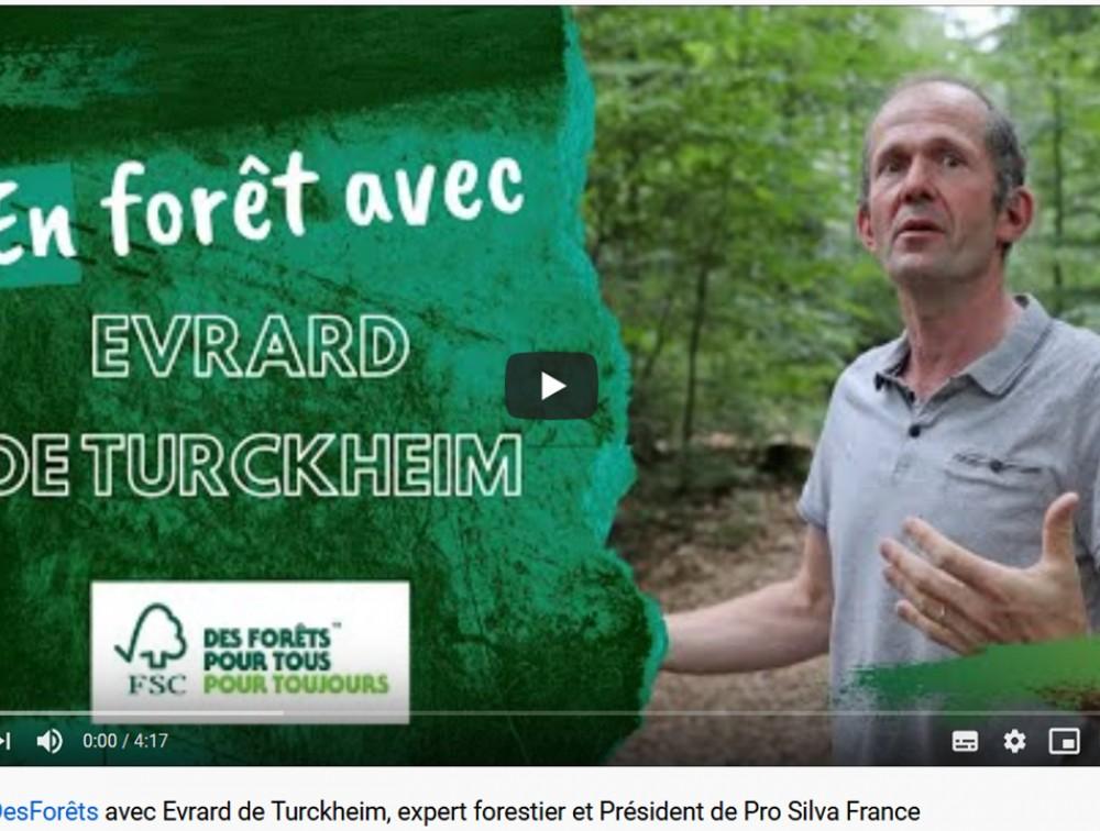 Interview et vidéo d'Evrard de Turckheim, Président de Pro Silva France, par FSC