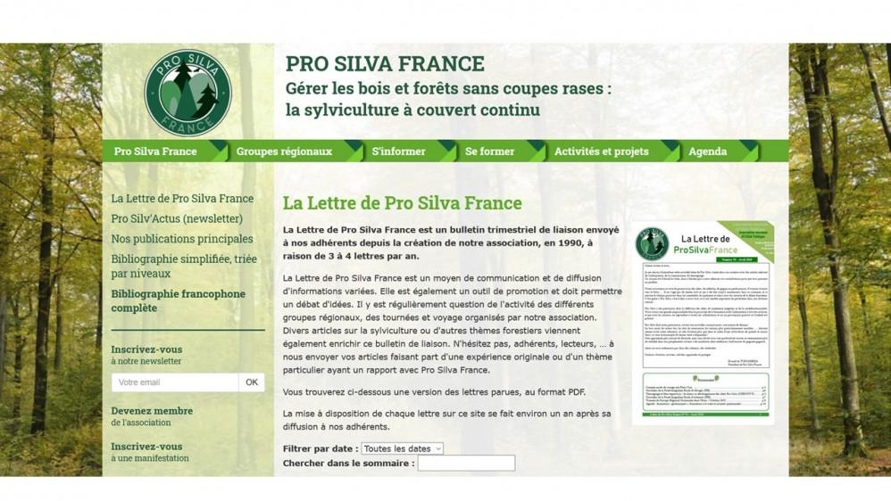 Mise en ligne de la Lettre de Pro Silva France N°77 (juillet 2019)